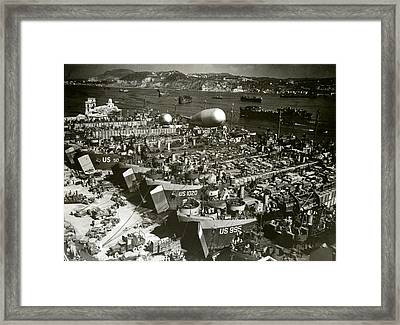 Wwii Invasion Of Southern France Framed Print by Historic Image
