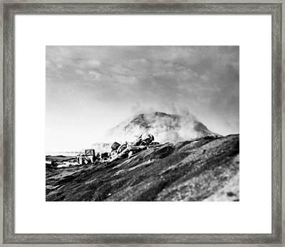 Wwii Iwo Jima Beachhead  Framed Print