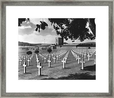 Wwii Lorraine Cemetery Framed Print