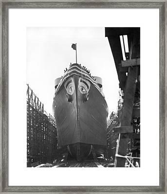 Wwii Maritime Ship Nose Art Framed Print