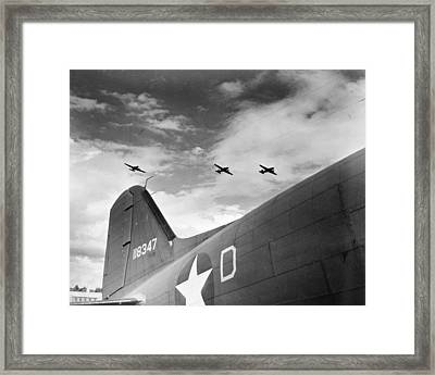 Wwii Paratroopers, C1942 Framed Print by Granger