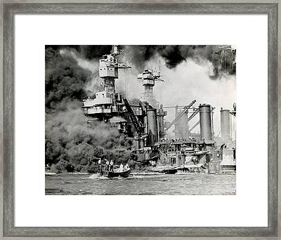 Wwii Pearl Harbor Attack Framed Print