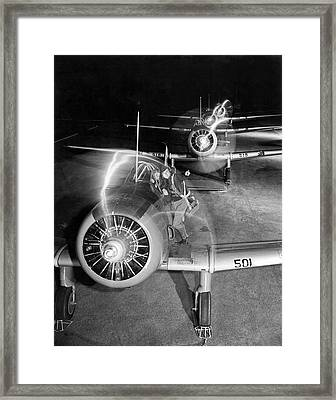 Wwii Pilot Training Framed Print by Underwood Archives