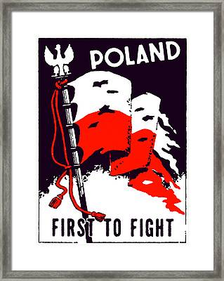 Wwii Poland First To Fight Framed Print by Historic Image