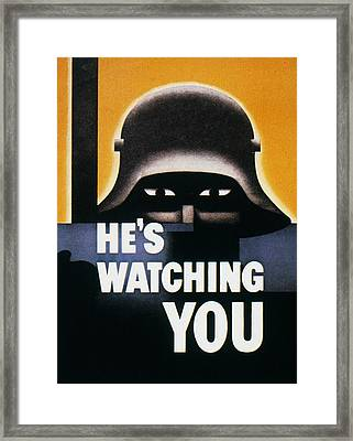 Wwii: Propaganda Poster Framed Print by Granger