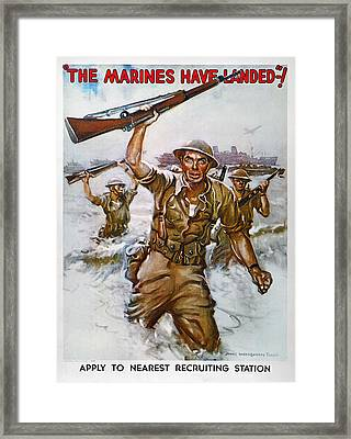 Wwii Recruiting Poster Framed Print