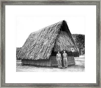 Wwii Red Cross In New Guinea Framed Print