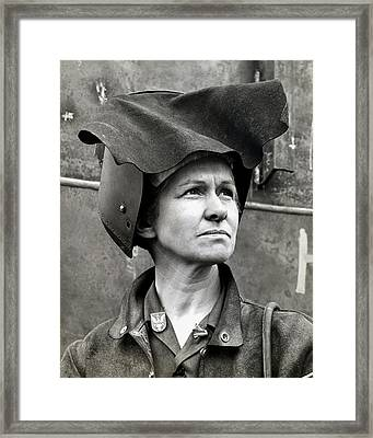 Wwii Rosie The Riveter Framed Print by Historic Image