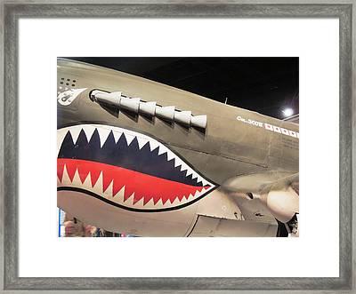 Wwii Shark Framed Print