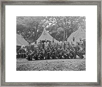 Wwii Soldiers Being Sent Home Framed Print by Underwood Archives