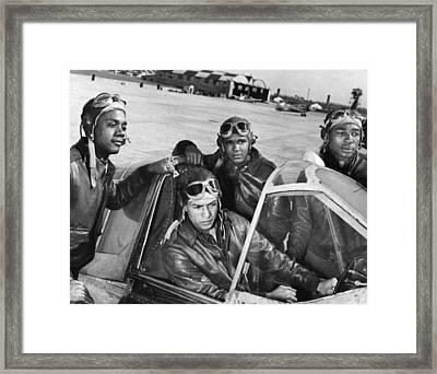 Wwii: Tuskegee Airmen Framed Print by Granger
