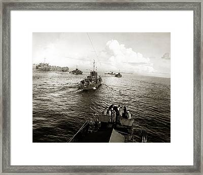 Wwii Us Navy In Philippine Waters Framed Print