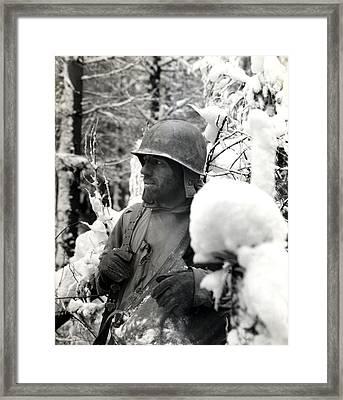 Wwii Veteran Of Bastogne  Framed Print