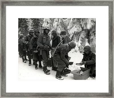 Wwii Veterans Battle Of The Bulge Framed Print