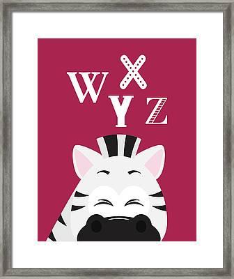 Wxyz Animals Framed Print