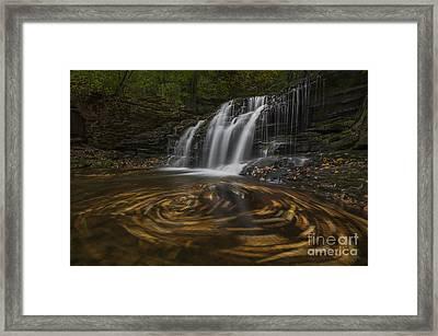 Wyandot Falls Framed Print by Roman Kurywczak