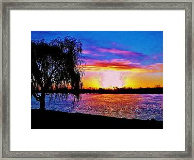 Framed Print featuring the photograph Wyandotte Mi Sunrise by Daniel Thompson