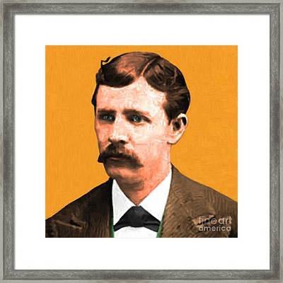 Wyatt Earp 20130518 Square Framed Print by Wingsdomain Art and Photography