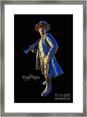 Wyatt Earp Statue Hdr Poster Framed Print by Andreas Hohl