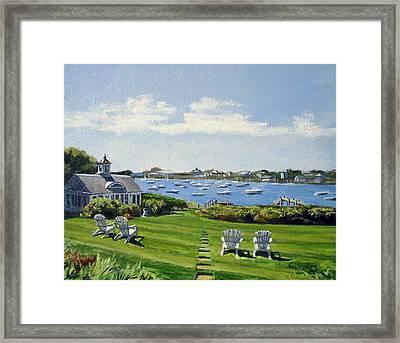 Wychmere Harbor Harwich Port Massachusetts Cape Cod Massachusetts Framed Print by Christine Hopkins