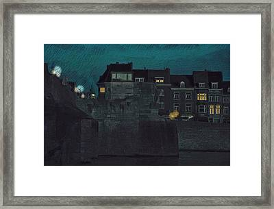 Wyck By Night Framed Print by Nop Briex