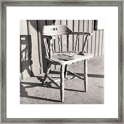 Wylie's Chair Framed Print by Will Gunadi