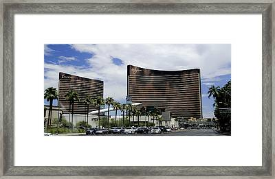 Wynn And Encore Hotels And Casinos - Las Vegas Framed Print by Jon Berghoff