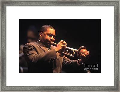 Wynton Marsalis Framed Print by Craig Lovell