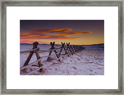 Wyoming Apocalypse Framed Print by Aaron Bedell