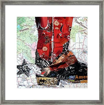 Wyoming Boot Framed Print