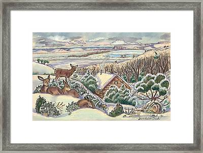Wyoming Christmas Framed Print