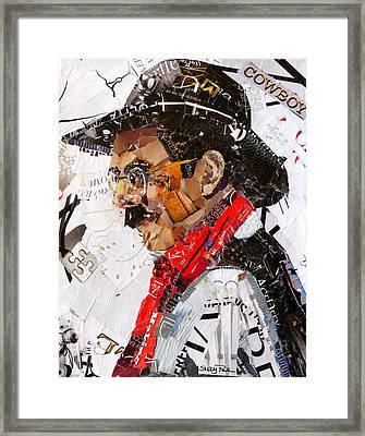 Wyoming Cowboy Framed Print
