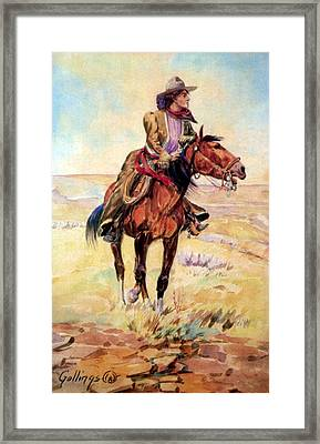 Wyoming Cowgirl, 1907 Framed Print