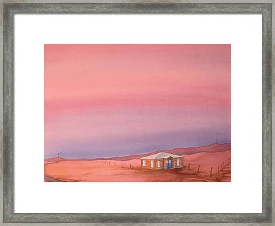 Wyoming Homestead Framed Print