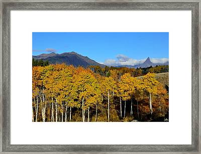 Wyoming In The Fall Framed Print