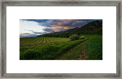 Wyoming Pastures Framed Print by Chad Dutson