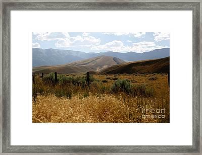 Wyoming Scenery Framed Print by Sophie Vigneault