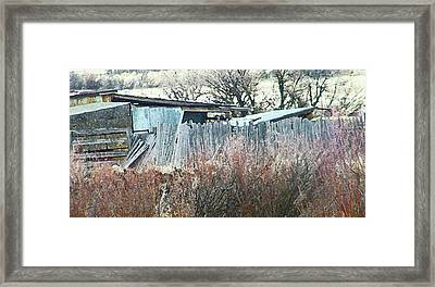 Wyoming Sheds Framed Print by Lenore Senior