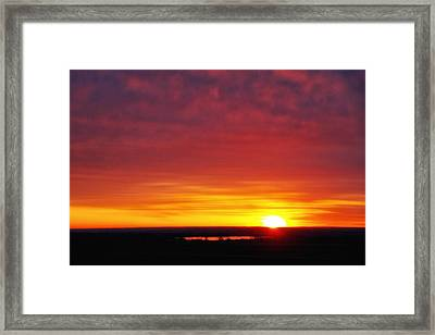 Wyoming Sunrise Framed Print
