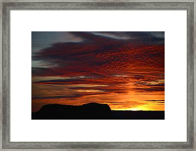 Wyoming Sunset #1 Framed Print