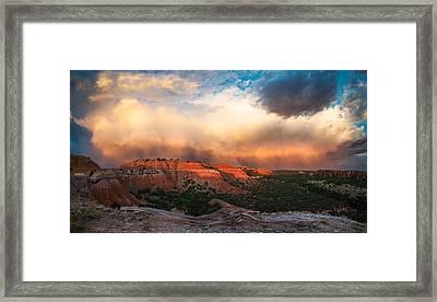 Wyoming Sunset Framed Print by Leland D Howard
