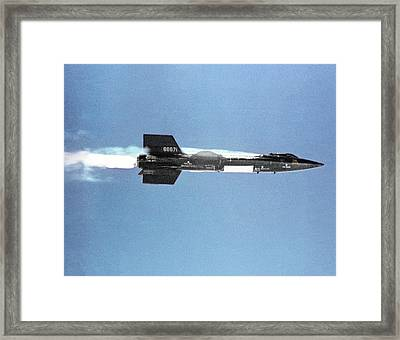 X-15 Aircraft After Launch Framed Print by Nasa
