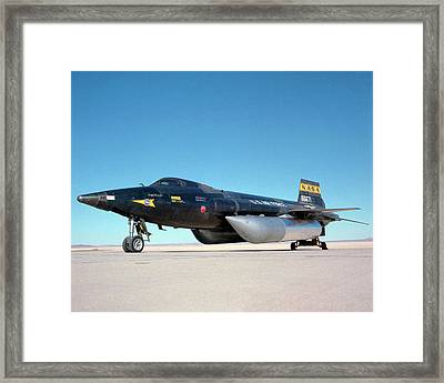 X-15 Aircraft And Fuel Tanks Framed Print