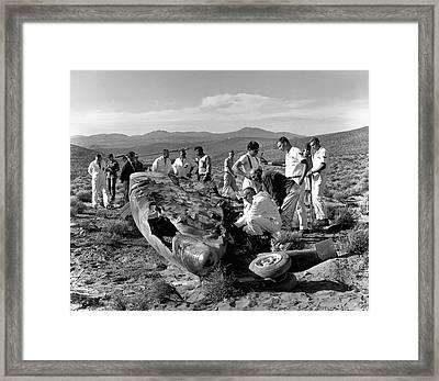 X-15 Aircraft Crash Site Framed Print