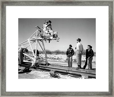 X-15 Aircraft Ejection Seat Tests Framed Print by Nasa/usaf