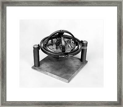 X-15 Aircraft Gyroscope Model Framed Print