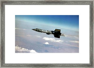 X-15 Aircraft In Flight Framed Print by Nasa/usaf