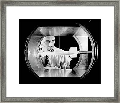 X-15 Aircraft Model In Wind Tunnel Framed Print by Nasa