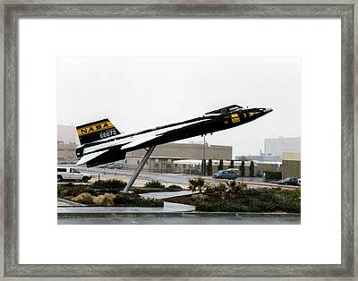 X-15 Aircraft Replica Installation Framed Print