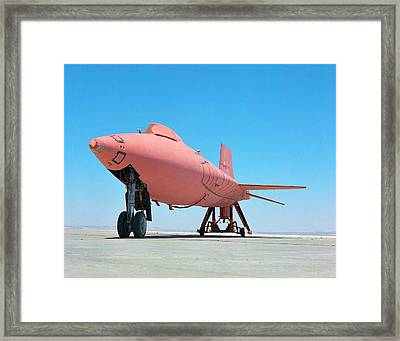 X-15 Aircraft With Ablative Coating Framed Print by Nasa